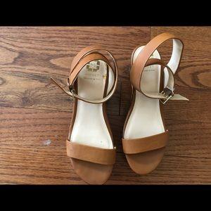 Monet brown snakeskin sandals